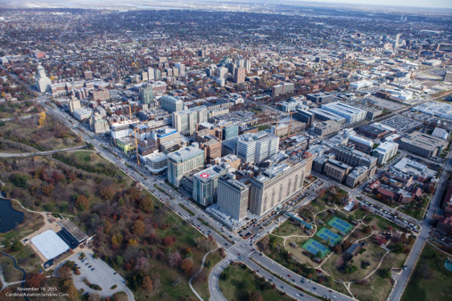Aerial view of Washington University Medical Center